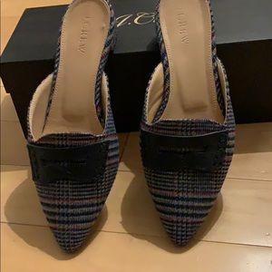 J Crew tweed loafers